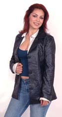 A8 LADIES BELTED LEATHER JACKET