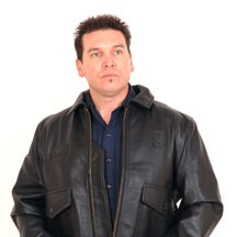 G1 Navy Flight Jacket shown in Black Cowhide with Plain Leather Collar
