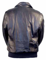 G2 Raider Leather Bomber Jacket with Knit Cuffs & Waist