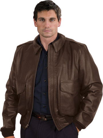 ba6fe609b3c A2 Air Force Cowhide Leather Bomber Waist Military Jacket