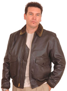 G1 NAVY LEATHER JACKET