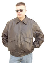 G100 Mens Waist Leather Jacket