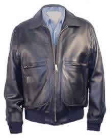 G2 Raider Leather Bomber Jacket with Knit Cuffs & Waist Made in ...