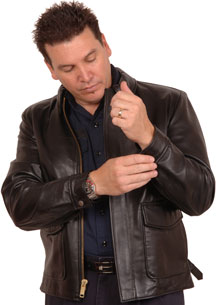 The Indiana Jones type Leather Bomber Jacket Made in the USA