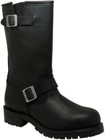 MB1440 Mens Ride Tecs Leather 13 inch Engineer Boots with Collar and Ankle Adjusting Belts Straps with Buckles