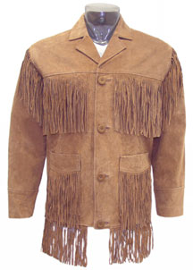 F200 BUCKSKIN LEATHER FRINGE JACKET BIG SALE! $89.95