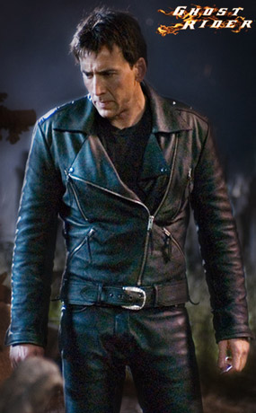 Nicolas Cage as Ghost Rider Movie Leather Theme Jacket