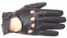 Leather Driving Glove with Knucle Holes