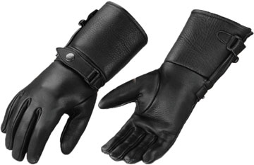78a81c01034a6 Glove-89 Short Police Style Lightweight Goatskin Leather Gloves Large View