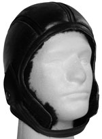 Aviator Shearling Leather Helmet 2 with Black Fur
