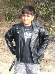 K1010 Kids Leather Biker Jacket