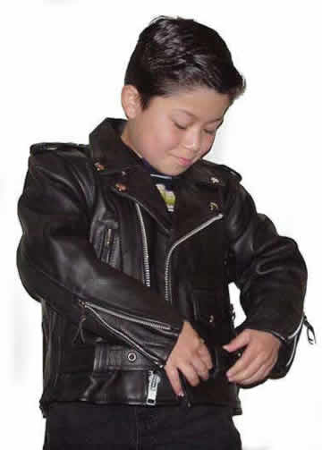 56e0f30711b4 K1 Kids Lightweight Leather Motorcycle Leather Classic Jacket ...