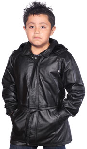 K11 Kids Long Coat with Hood