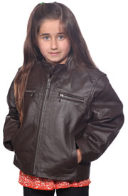 K518 Boys Brown Waist Jacket with Kosack Knit Collar and Epaulets