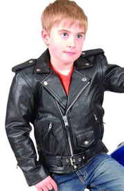 K2800 Kids Leather Biker Jacket