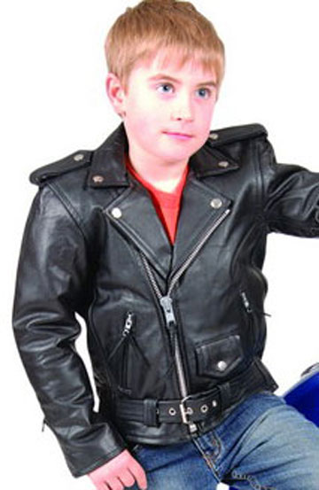 K2800 Kids Soft Leather Motorcycle Leather Classic Jacket Leather Com