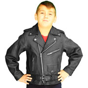K2801 Kids Leather Biker Jacket