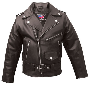 K2801 Kids Economy Leather Motorcycle Leather Classic Jacket