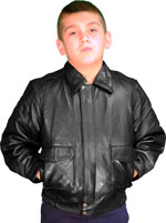 Click here for the Kids Lambskin Bomber Jacket