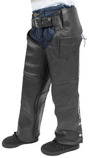 Kids Biker Leather Chaps