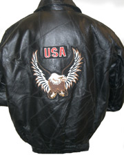 Kids Eagle Patchwork Leather Jacket