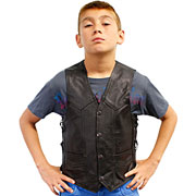 KV392 Kids Leather Vest  with Adjustable Side Laces