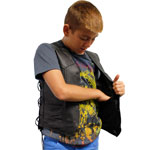 KV392 Kids Vest with Laces