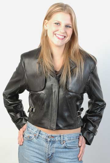 LADIES G1 AVIATION LEATHER JACKET