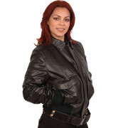 Ladies CP1 Leather Aviation Bomber Jacket in Goatskin