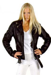 LADIES DAVIS LEATHER BIKER JACKET