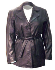 A7 LADIES BELTED LEATHER JACKET