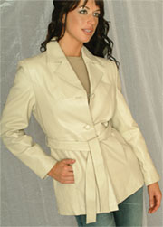 W50 LADIES BELTED LEATHER JACKET