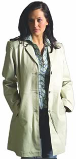 Style A21280 Ladies  3 Quarter Leather Blazer