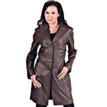 Long Leather Coat - JacketIn