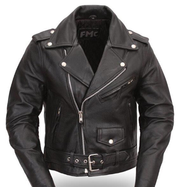 LC137 Ladies Bike Jacket with Crossover Asymetrical Front ...