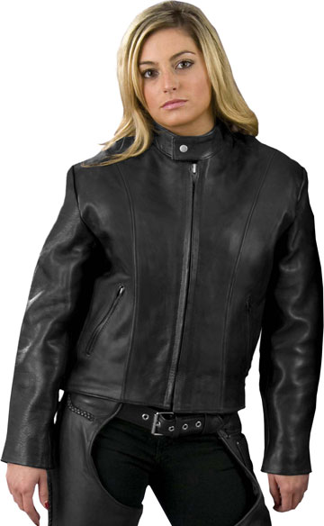 L101X Ladies Basic Biker Jacket with Sport Collar Made in ...