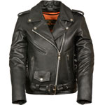 LC2701 Motorcycle Premium Leather Biker Jacket with Zipout Liner