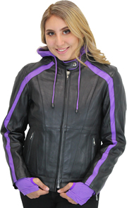 Click here for the LC6555 Ladies Jacket with Purple Hood