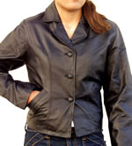 A32 LADIES SHORT LEATHER JACKET