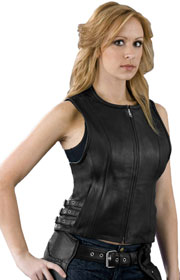 LV1911 Ladies Vest with Side Belt Adjusters