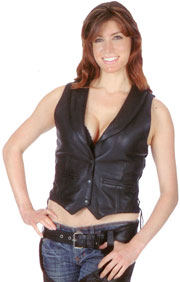 Welcome to the Ladies Leather Vests Department
