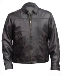 A220036 MENS WAIST LEATHER  JACKET