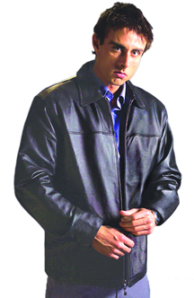 A102 MENS LEATHER WAIST JACKET