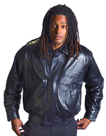 MENS TAN LEATHER WASIT JACKET