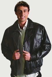 Style A22355  Mens  Lamb Waist Jacket  -- San Diego Leather Jacket