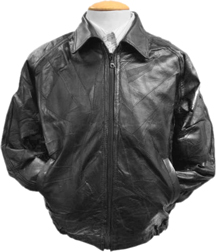 A28 Zig Zag Leather Bomber Jacket
