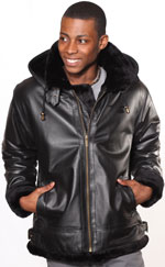 New A3109 Fur Bomber Jacket