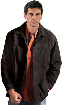 mens collezione soft lambskin leather car coat short trench jacket Car