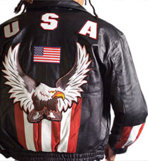 USA2 MENS LEATHER  WAIST JACKET