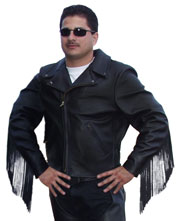102X Fringe Leather Jacket
